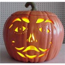 Carved Smiley Pumpkin  9""