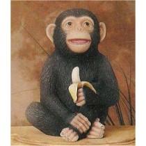 "Monkey w/Banana 7.5"""