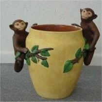 """Monkey Vase 12 1/2"""" tall"""