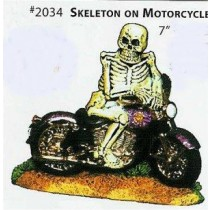 Skeleton on Motorcycle 7""