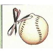 "Baseball Ornament 2""t"