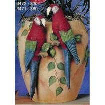 """Parrot Vase 15""""t"""