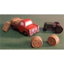 Petro Truck, Tractor, Haybales Set