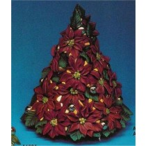 "Poinsettia Tree 14.5""T"