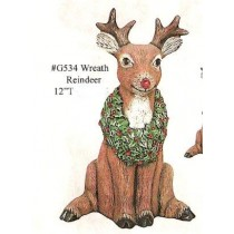 "Wreath Reindeer 12""t"