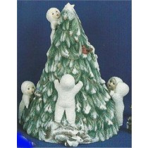"SnowBaby Tree inclds 6 snobabys on tree 9""T"