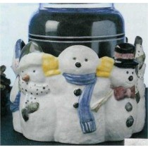 "Snowman Dish or Candle Holder 5""D"