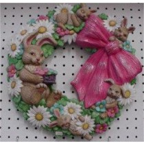 "Rabbit Wreath 16"" D"