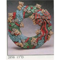 "Teddybear Wreath 13""D"