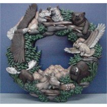 Wildlife Wreath 16.5""