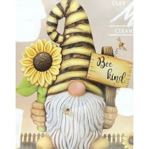 """Garth Gnome w/Sunflower & Sign 15.5""""Tx12""""W"""
