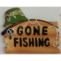 "KP Gone Fishing Orn. 2.5""x3"""