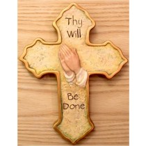 "CPI Pray Hands Cross 10""T"