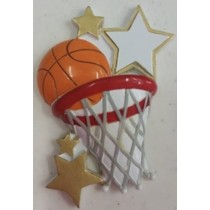 "KP Basketball Orn. 2""x3.5"""